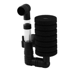 ソウテン スポンジフィルター エアポンプ 水槽用 ブラック