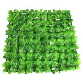 uxcell 人工水草 アクアリウム 水族館芝生マット 人工芝生 プラスチック製 グリーン 24.5cm x 24.5cm