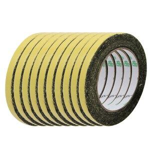ソウテン スポンジテープ シングルサイドシール 厚さ 1mm ワイド10mm 長さ5M ブラック 10個入り