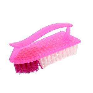 ソウテン たわし スクラブ ハンドグリップ 服 靴 洗濯 家庭用 プラスチック フクシア