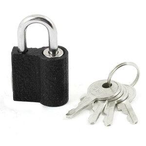 ソウテン パッドロック 南京錠 小型 安全 ミニボックス用 4つ鍵付き 金属製 ブラック シルバー
