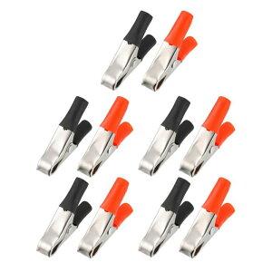 ソウテン 電気バッテリークロコダイルクランプ ワニ口クリップ テストクランプ コネクタ 回路試験 10A 10個入り