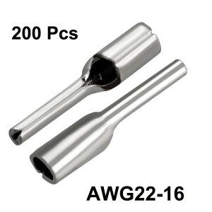 uxcell非絶縁ピン端子コネクタピン端子AWg22-16PTN1.25-10200個入り