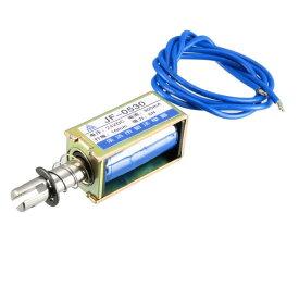 uxcell DCソレノイド電磁石 ソレノイドバルブ DC 24V 300mA 5N 10mmストローク ゲーム機 1個入り