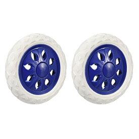 ソウテン uxcell ショッピングカートホイール トロリーキャスター ゴム発泡 直径16cm ブルー 2枚入り