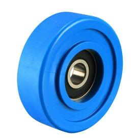 ソウテン uxcell ベアリングプーリー ナイロンベアリングローラー コンベヤホイール 8x45x14mm ブルー