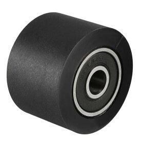 ソウテン uxcell ベアリングプーリー ナイロンベアリングローラー コンベヤホイール 6x30x20mm ブラック