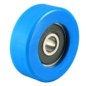 ソウテン uxcell ベアリングプーリー ナイロンベアリングローラー コンベヤホイール 6x30x10mm ブルー 2個入り