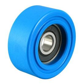 ソウテン uxcell ベアリングプーリー ナイロンベアリングローラー コンベヤホイール 8x35x15mm ブルー 2個入り