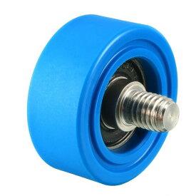 ソウテン uxcell ベアリングプーリー ナイロンベアリングローラー 35x35x0.5mm M8*10 ブルー 1個入り