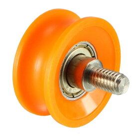 ソウテン uxcell ベアリングプーリー ナイロンベアリングローラー 6x30x13mm 深さ2.5mm オレンジ