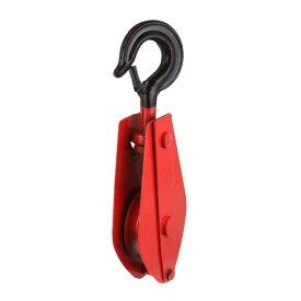 ソウテン ローププーリー クレーンプーリーブロック レッド ブラック メタル材質 310mm