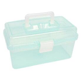 uxcell プラスチックケース DIY ハンドツールストレージボックスホワイトクリアターコイズ 18 x 9 x 11cm