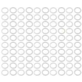 ソウテン uxcell 平座金 フラットワッシャー シールワッシャー ドレン栓 アルミ製 12mmx16mmx1.2mm 100個入