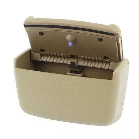 ソウテン uxcell タバコホルダー 灰皿 車 拡散器に取り付け ブルーLEDライト プラスチック カーキ 15日発送予定