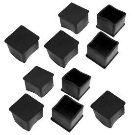 uxcell テーブル椅子足キャップ 脚キャップ 脚カバー 椅子ラバーキャップ ブラック 角脚 40mm x 40mm 10個入り