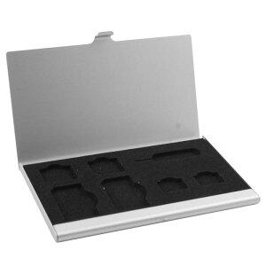 ソウテン アルミ合金製ケース ボックス シルバー 7スロット SIMカード SD TFカード