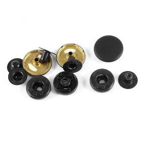 ソウテン ジーンズボタン ジーンズタック 釦 ソーイングレザー ボタン フィニッシュポッパー スナップ ファスナー プレススタッズ ブラック 17mm 3 セット