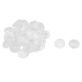 uxcell 家具保護パッド 家庭 ゴム ラウンド ガラス テーブル 滑り止め ダッシュ クッション マット パッド クリア 50個入り