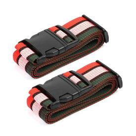 ソウテン uxcell スーツケースベルト 荷物バッグベルト 調節可能 バッグクロスベルト 旅行 荷物ベルト 荷物ストラップ 2M アソートカラー 2個入り 20日発送予定