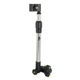 ソウテン 自転車傘ホルダー 拡張可能 黒 シルバートーン 簡単なインストール サンシェードアクセサリー 調節可能な固定リング 良いスタンド