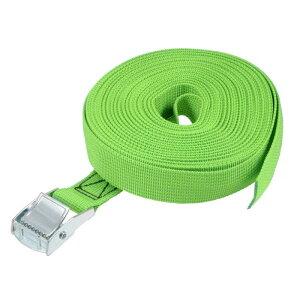 ソウテン ラッシングストラップ 荷物固定ロープ 荷締めベルト 荷締バンド 落下防止 貨物輸送 カーゴタイ ダウンストラップ 551Lbs 9m長さ グリーン