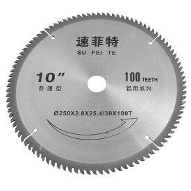 ソウテン uxcell チップソー 丸ノコ 切削ソーブレード アルミニウム円形 100歯 外径250mm