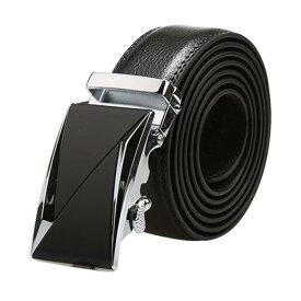 ソウテン ベルト メンズ 自動バックル ラチェット ビジネス 紳士 レザー 幅 3.5cm 121-156cm タイプ8 160cm