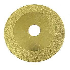 uxcell 研磨材 研削グラインド ディスク 研磨ホイール ダイヤモンド ガラス 丸型 ゴールドトーン 100mm