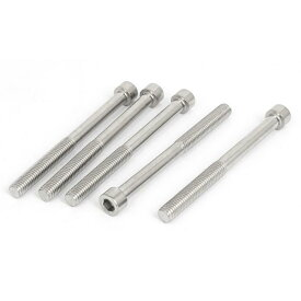 ソウテン 六角穴付きボルト ステンレス鋼の半分スレッド キー六角ネジのキャップ ボルト 5本入 M8x90mm 長さ42mm