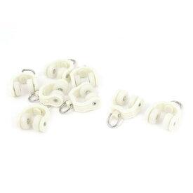 ソウテン カーテンランナー プラスチックローラー 11mmホイール直径 8個 ホワイト