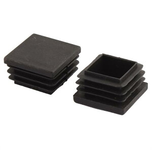 uxcell送料無料足キャップ椅子キャップ床脚カバー家オフィステーブル椅子脚パイプキャッププラスチック四角形ブラック30x30mm20個入り