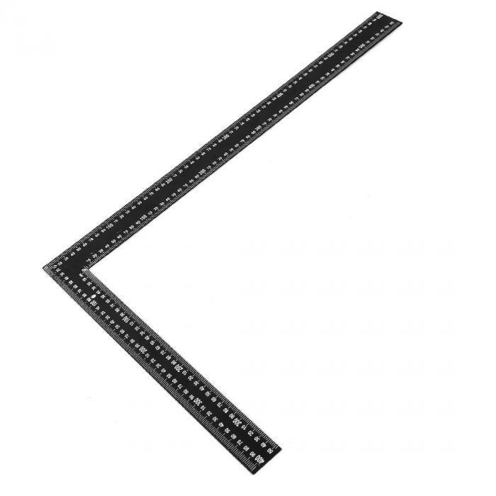 uxcell 送料無料 曲尺 直角定規 スクエアルーラー メトリックスケールマーク デュアルサイド L型