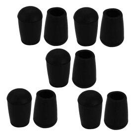 uxcell パイプキャップ 10mm内径 椅子脚のゴムキャップ 床の保護部品 家具の脚カバー 10個入り