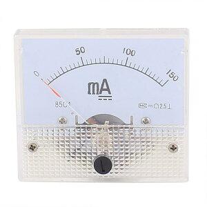 ソウテン アナログ電流計 プラスチック 電子部品 カレントテスタパネル 物理ラボ使用 1個入り 65mm x 56mm DC 0-150mA