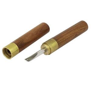 ソウテン エッジベベル 木製 金属 ブラウン 切削工具 レザークラフト 1.8mm幅 カッター 1個入り