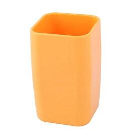 ソウテン uxcell プラスチック?浴室の歯ブラシ 歯磨き粉ホルダー 歯クリーニングマグカップ 300 ml オレンジ 15日発送予定