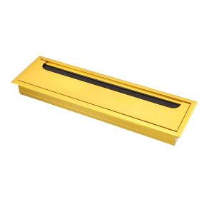 ソウテン ワイヤーオーガナイザー ケーブル穴カバー 電線ホルダー アルミ 269 mm x 68 mm ゴールドトーン