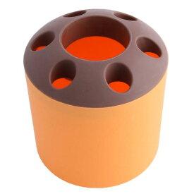 ソウテン uxcell 歯ブラシホルダー ハミガキコンテナ かみそりオーガナイザー 洗面所 プラスチック 家庭用品 オレンジ、ブラウン 15日発送予定