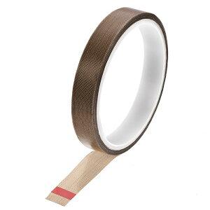 ソウテン PTFEコーティング布テープブラウン高温テープ 15mm 真空、ハンド、インパルスシーラー用 粘着テープ10 m