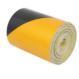 ソウテン 反射警告テープ 片面 ガムテープ フィルムストリップ イエロー ブラック 粘着テープ 15M長さ 5cm幅
