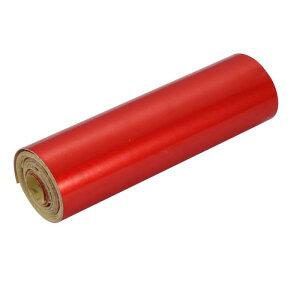 ソウテン 反射警告テープ 片面 ガムテープ フィルムストリップ 粘着テープ 2M長さ 10cm幅 レッド