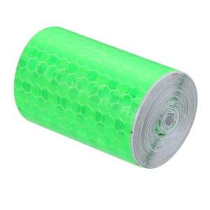 ソウテン 反射テープ 粘着テープ ガムテープ フィルムストリップ 5m幅 2M長さ グリーン