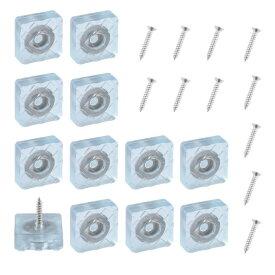ソウテン ゴム足 フロアプロテクター 矩形 スリップ脚なし ネジ付き 家具 床 保護装置 22x22mm 12個入り