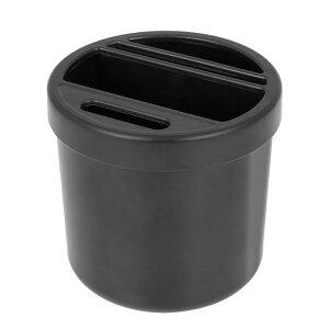 ソウテン X AUTOHAUX 車の収納ボックス コンテナオーガナイザーポータブル 多機能カップスロット収納ボックス インサートカードスロットコイン収納ボックス付き ブラック