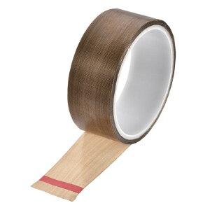 ソウテン PTFEコーティング布テープブラウン高温テープ 35mm 真空、ハンド、インパルスシーラー用 粘着テープ10 m