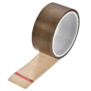 ソウテン PTFEコーティング布テープブラウン高温テープ 40mm 真空、ハンド、インパルスシーラー用 粘着テープ10 m