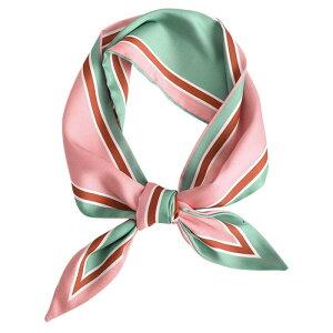 ソウテン リボンスカーフ ネッカチーフ 細い 水玉 ヘアバンド 髪飾り バッグ飾り レディース ピンク 86x10cm