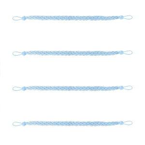 ソウテン カーテンタイバック 58.5 cmカーテンホールドバック ウィンドウタッセルタイバック クリップ 装飾的なロープカーテンホールドバックホルダー 青い 4個