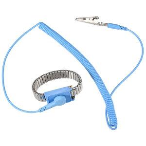 ソウテン 静電気防止用リストストラップ リストバンド 磁気トレイ 接地ワイヤ ワニクリップ 2.2 m 3個入り